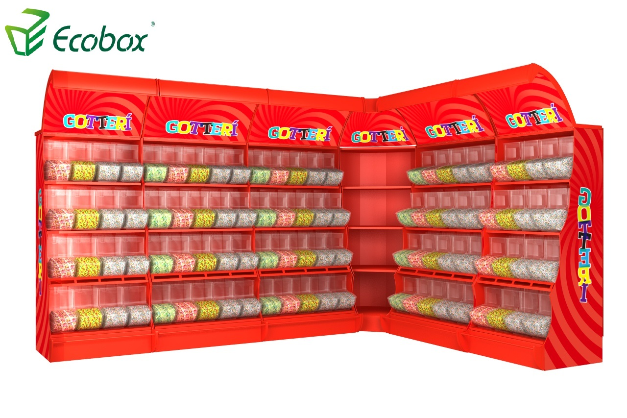 Ecobox TG-061 Serie Eck Candy Display Regal Regal